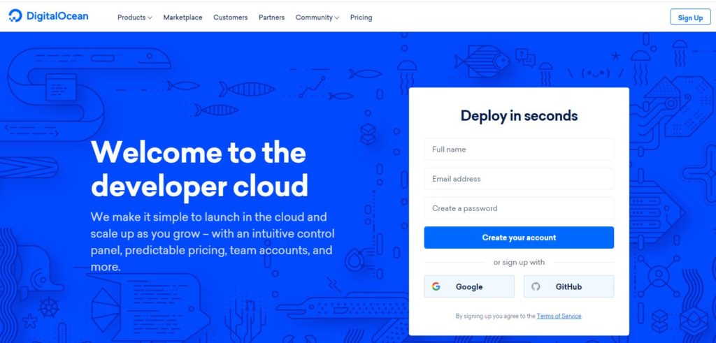 digital ocean hosting