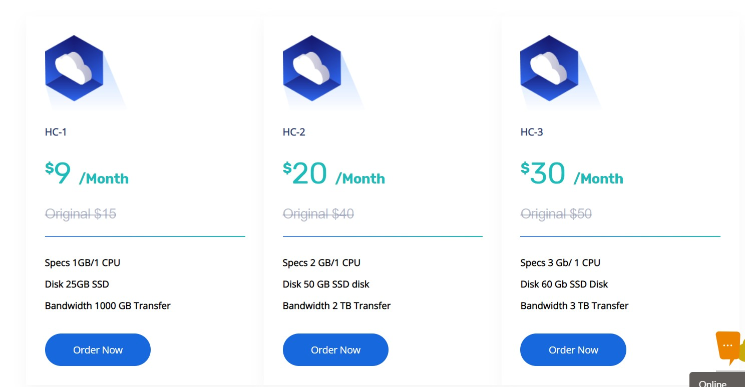Hostnoc Cloud Packages