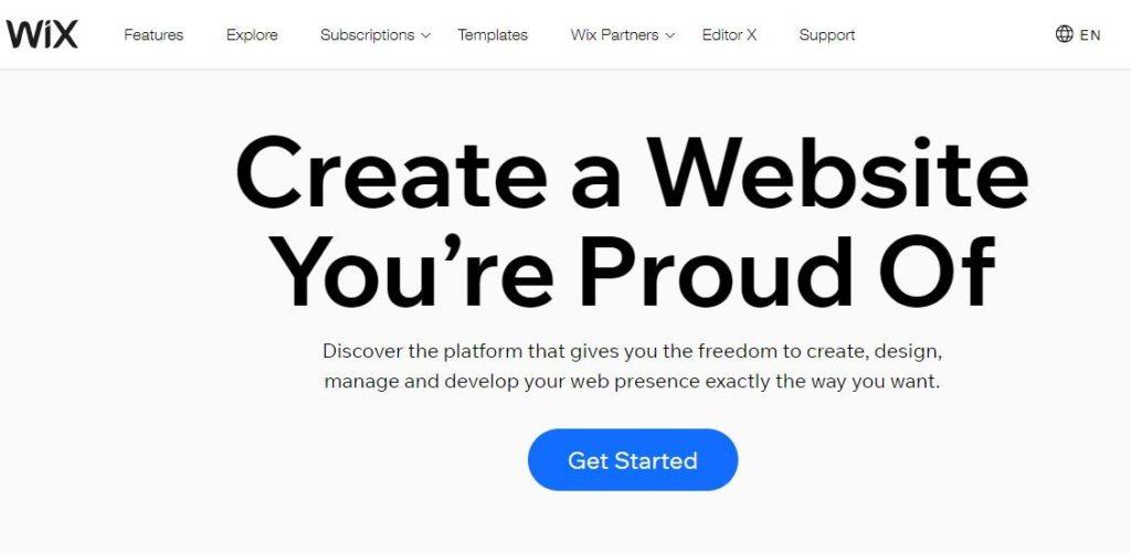 Wix Free Web Hosting